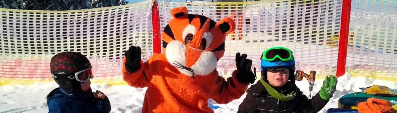 Green Orange Tiger mit Mini tigern