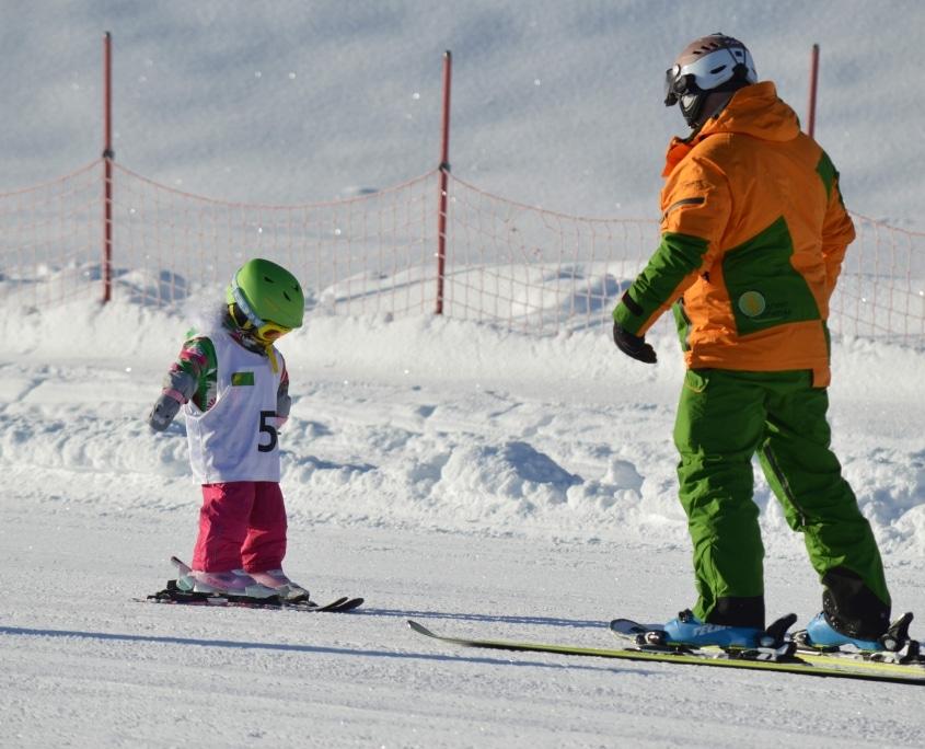 Privatunterricht für die Schifahrer von Morgen